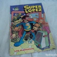 Tebeos: TEBEO ANTIGUO SUPER LOPEZ COLECCION OLE JAN EDITORIAL BRUGUERA LOS ALIENIGENAS PRIMERA EDICION 1981. Lote 205853995
