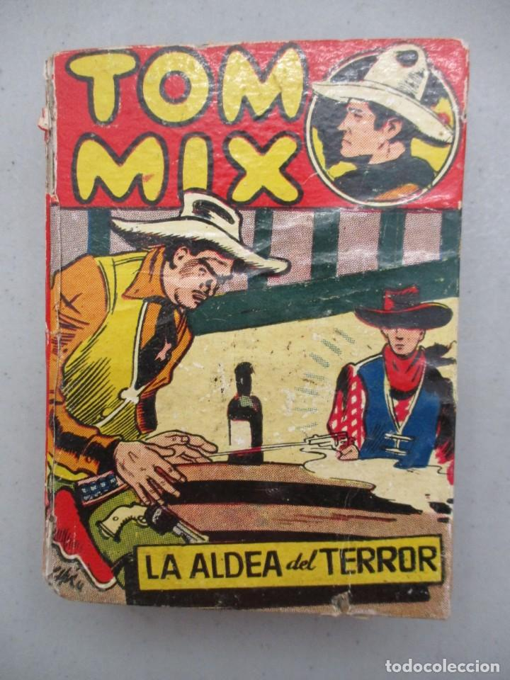 TOM MIX / LA ALDEA DEL TERROR / Nº3 / MUY RARO / COLECCION PULGARCITO / SERIE B / BRUGUERA (Tebeos y Comics - Bruguera - Pulgarcito)