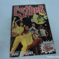 Tebeos: REVISTA ANTIGUA JUVENIL ESTHER NUMERO 110 FAMA POSTER DE LUIS MIGUEL EDITORIAL BRUGUERA. Lote 206287022