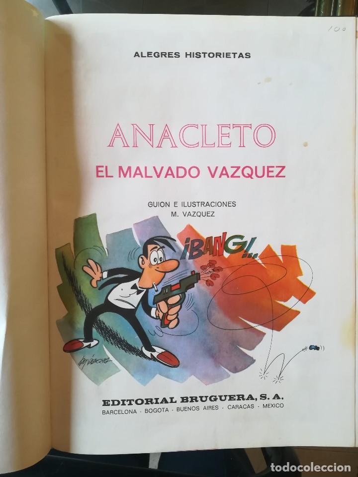 Tebeos: ANACLETO. ALEGRES HISTORIETAS PRESENTA. ANACLETO: EL MALVADO VÁQUEZ. BRUGUERA. BARCELONA 1971 - Foto 3 - 206310515