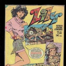 Tebeos: LOTE DE 5 COMICS LILY Y UN COMIC EXTRA AÑO XVIII AÑO 1981 - 1986 REVISTA JUVENIL FEMENINA. Lote 206750942