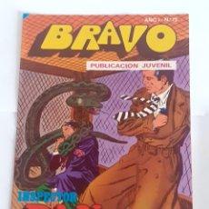Tebeos: TEBEO BRAVO 1976 EDITORIAL BRUGUERA INSPECTOR DAN FIERAS AL ACECHO Nº 72 36. Lote 207138751