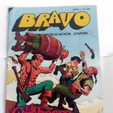 Tebeos: DESCRIPCION: TEBEO BRAVO 1976 EDITORIAL BRUGUERA EL CACHORRO RODEADOS DE PELIGRO Nº23 12. Lote 207140032