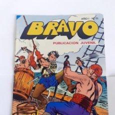 Tebeos: DESCRIPCION: TEBEO BRAVO 1976 EDITORIAL BRUGUERA EL CACHORRO LOS BUITRES DEL CARIBE Nº 71 36. Lote 207140627