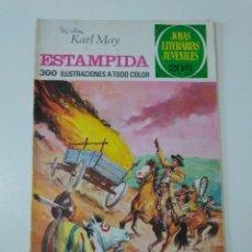 Tebeos: JOYAS LITERARIAS JUVENILES NÚMERO 144 ESTAMPIDA 1 EDICIÓN 1975 EDITORIAL BRUGUERA. Lote 207232371