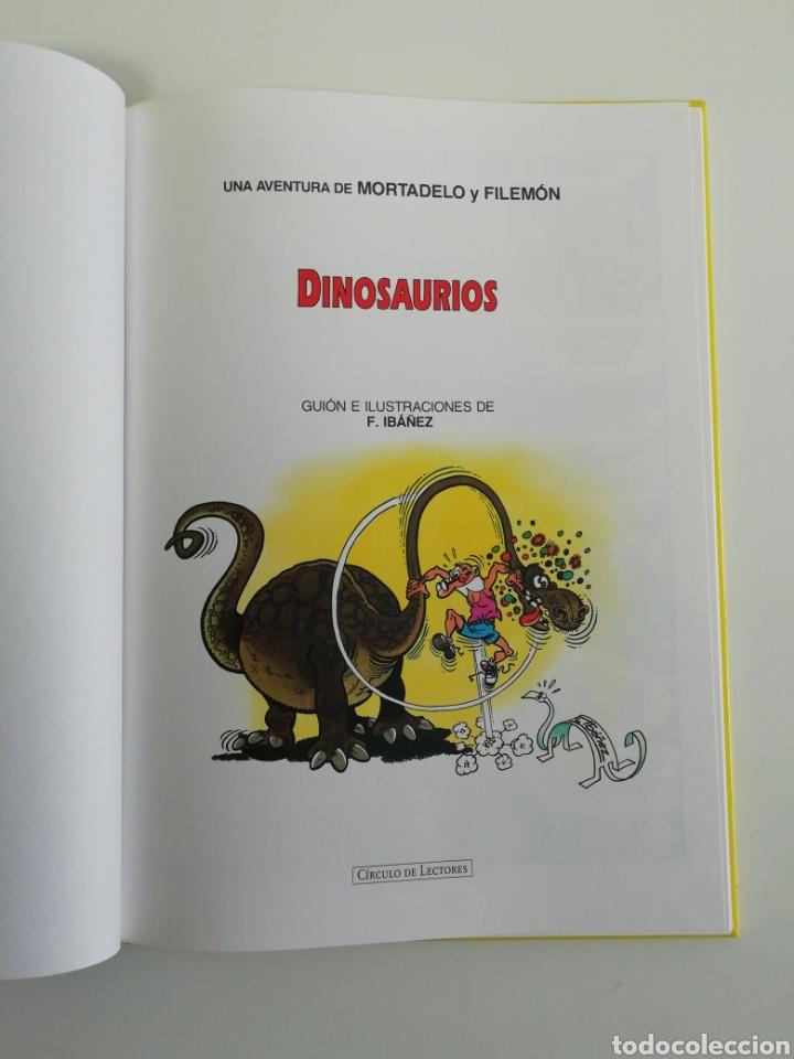 Tebeos: Mortadelo y filemon (DINOSAURIOS). Magos del humor tapa dura - Foto 3 - 207304083