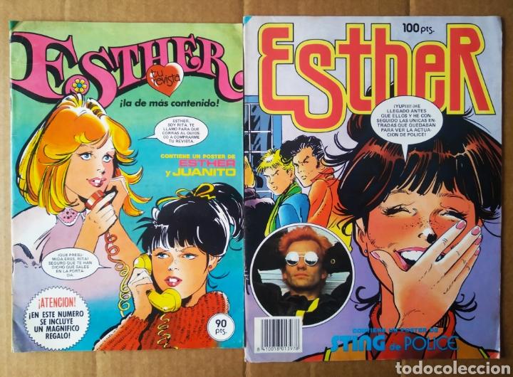 LOTE REVISTA ESTHER: NÚMEROS 39-79 (BRUGUERA, 1983-1984). PÓSTERS DE ESTHER Y JUANITO Y STING. (Tebeos y Comics - Bruguera - Esther)