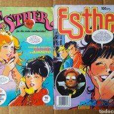 Tebeos: LOTE REVISTA ESTHER: NÚMEROS 39-79 (BRUGUERA, 1983-1984). PÓSTERS DE ESTHER Y JUANITO Y STING.. Lote 207735037
