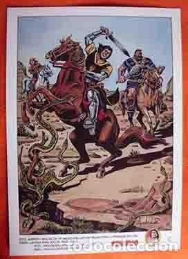 POSTER EL CAPITÁN TRUENO DIBUJO DE AMBROS ASOC.AMIGOS CAPITAN TRUENO MEDIDAS 42X30 (Tebeos y Comics - Bruguera - Capitán Trueno)