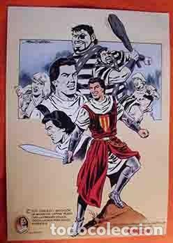 POSTER EL CAPITÁN TRUENO DIBUJO DE JOAN BOIX ASOC.DE AMIGOS CAPITÁN TRUENO MEDIDAS 42X30 (Tebeos y Comics - Bruguera - Capitán Trueno)