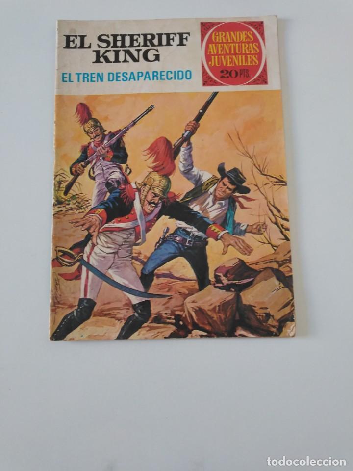 EL SHERIFF KING NÚMERO 6 EL TREN DESAPARECIDO GRANDES AVENTURURAS JUVENILES 2 EDICIÓN 1975 BRUGUERA (Tebeos y Comics - Bruguera - Sheriff King)