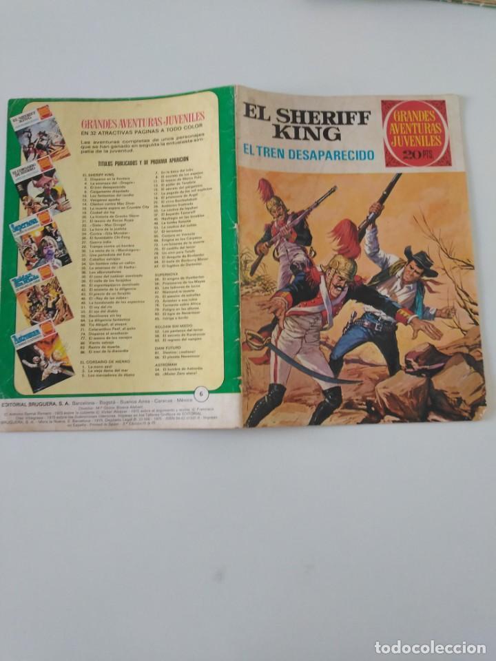 Tebeos: El Sheriff King número 6 El Tren Desaparecido Grandes Aventururas Juveniles 2 Edición 1975 Bruguera - Foto 3 - 207869595