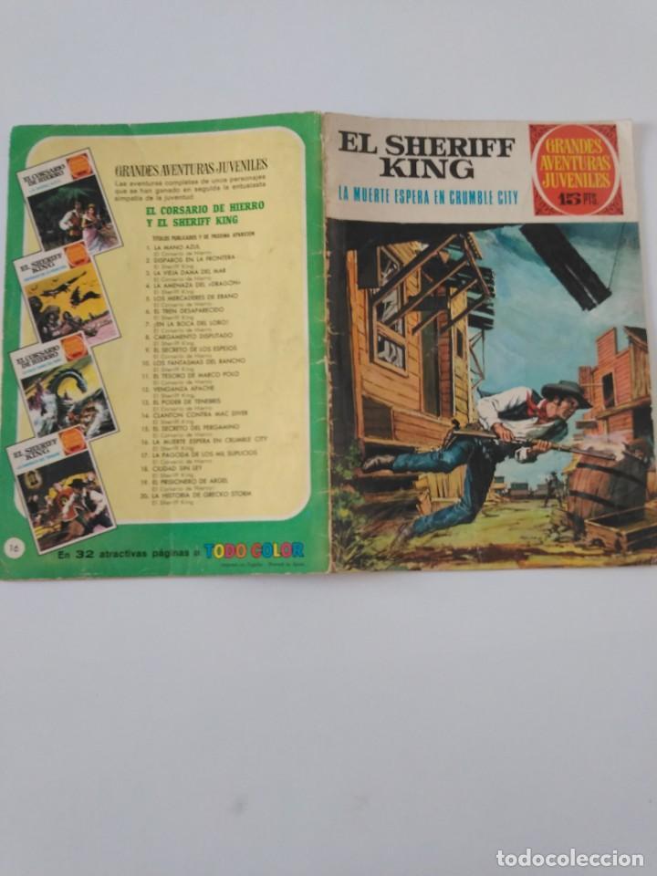 Tebeos: El Sheriff King número 16 La Muerte Espera en Crumble City Grandes Aventururas Juveniles 1 Edición - Foto 3 - 207870366