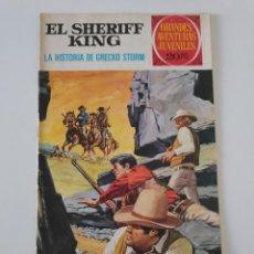 BDs: EL SHERIFF KING NÚMERO 20 LA HISTORIA DE GRECKO STORM GRANDES AVENTURURAS JUVENILES 2 EDICIÓN 1975. Lote 207871053