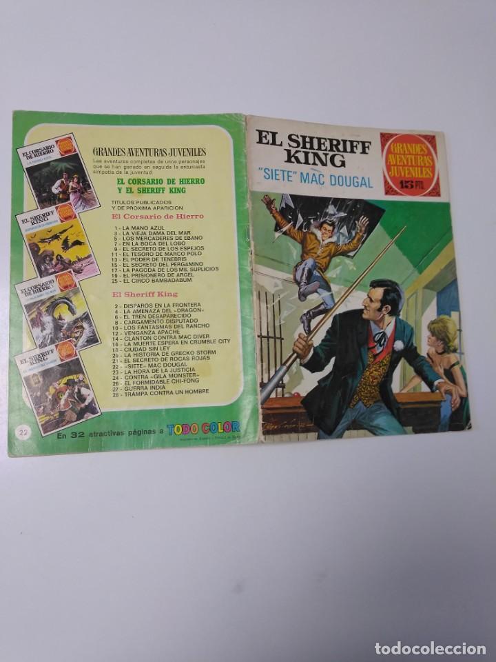 Tebeos: El Sheriff King número 22 Siete Mac Dougal Grandes Aventururas Juveniles 1 Edición 1972 Bruguera - Foto 3 - 207871811