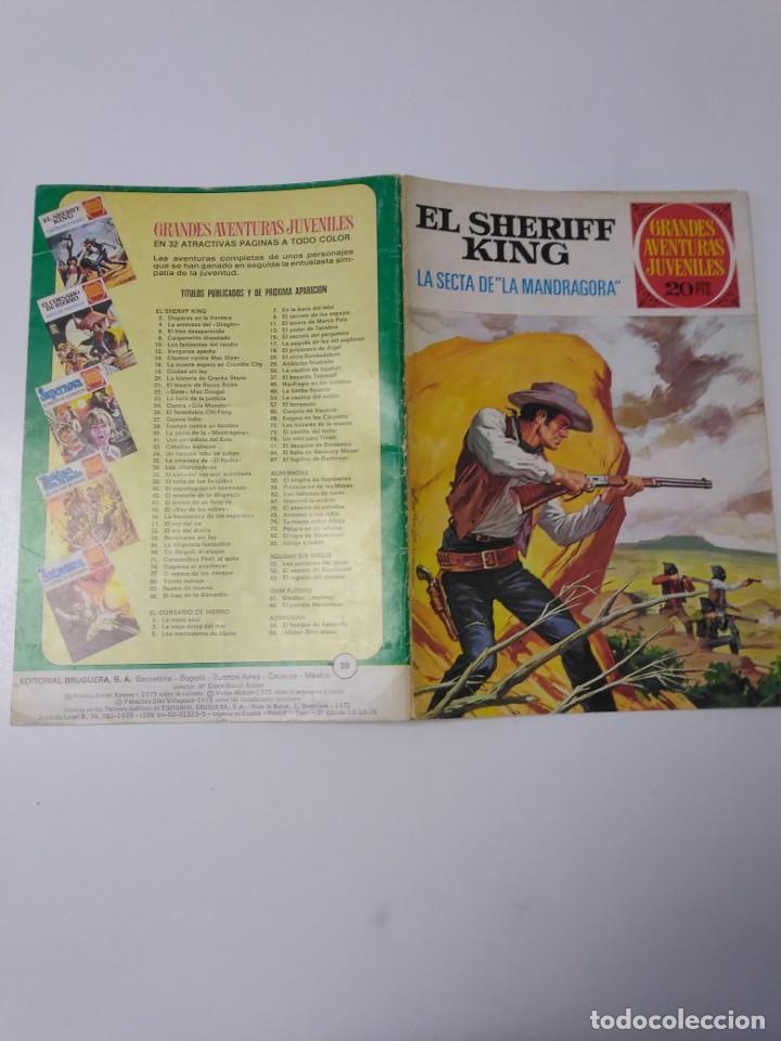 Tebeos: El Sheriff King número 30 La Secta de la Mandrágora Grandes Aventuras Juveniles 2 Edición 1975 - Foto 3 - 207874077