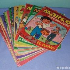 Tebeos: GRAN LOTE 39 COMICS DE MARCO DE LOS APENINOS A LOS ANDES DE BRUGUERA AÑO 1976. Lote 208018717