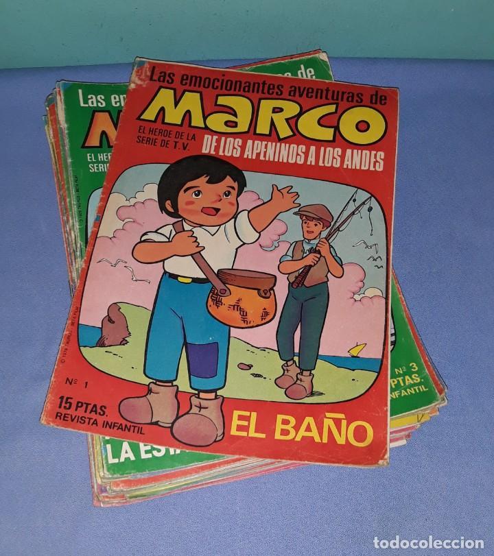 Tebeos: GRAN LOTE 39 COMICS DE MARCO DE LOS APENINOS A LOS ANDES DE BRUGUERA AÑO 1976 - Foto 2 - 208018717
