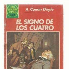 Tebeos: JOYAS LITERARIAS 258: EL SIGNO DE LOS CUATRO, 1982, BRUGUERA, USADO. Lote 236884925