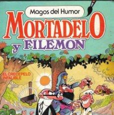 Tebeos: MAGOS DEL HUMOR - Nº 12 - MORTADELO Y FILEMÓN - EL CRECEPELO INFALIBLE - F. IBÁÑEZ - BRUGUERA, 1986.. Lote 208665141
