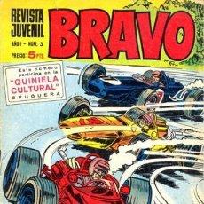 Tebeos: BRAVO-REVISTA JUVENIL- Nº 3 -BLUEBERRY-AQUILES TALÓN-MICHEL TANGUY-V.MORA-1968-M.BUENO-DIFÍCIL-3643. Lote 209089698