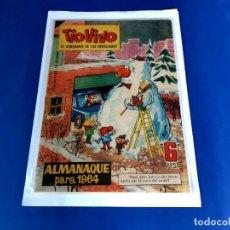 Tebeos: TIO VIVO - ALMANAQUE PARA 1964-EXCELENTE ESTADO. Lote 209613581