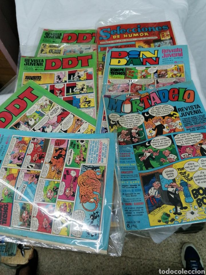 Tebeos: Lote cómics Bruguera 3 DDT 2 Dindan mortadela - Foto 2 - 209663358