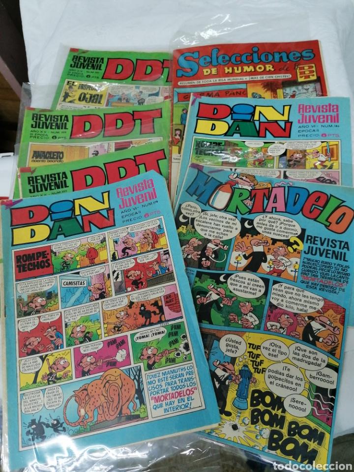 LOTE CÓMICS BRUGUERA 3 DDT 2 DINDAN MORTADELA (Tebeos y Comics - Bruguera - DDT)