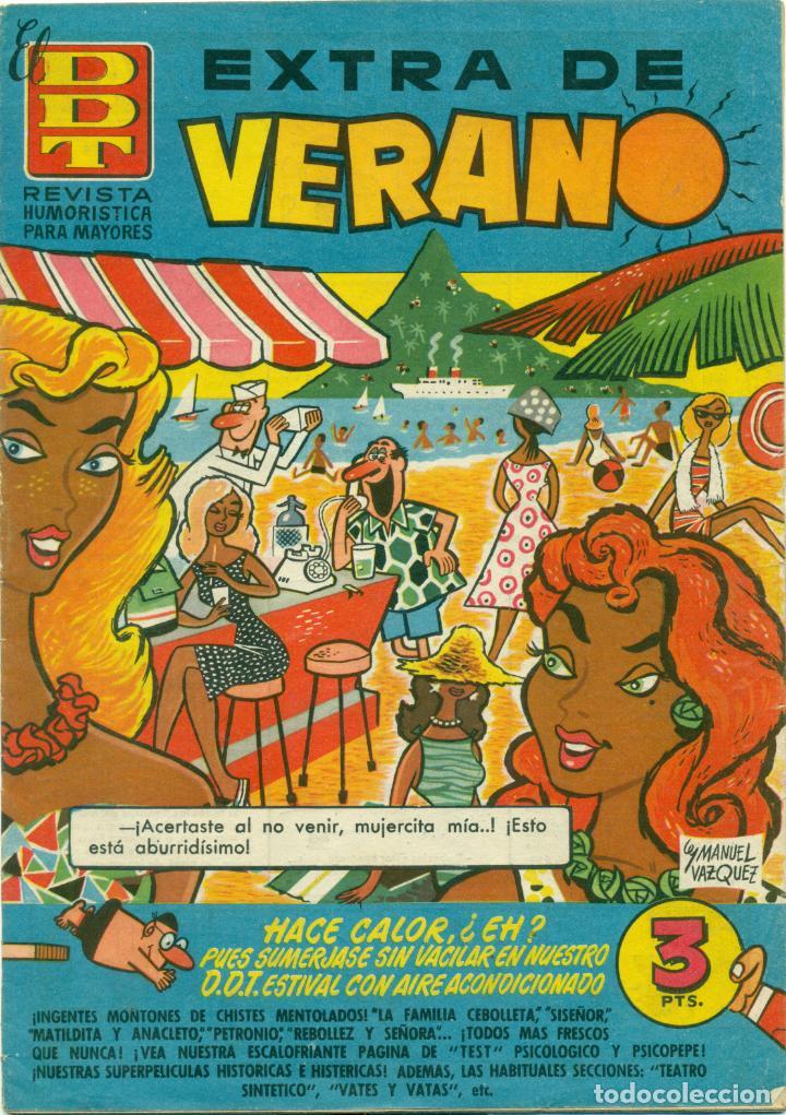 LOTE NUEVE EXTRAS DE VERANO DE DDT SE VENDEN TAMBIEN SUELTOS (Tebeos y Comics - Bruguera - DDT)