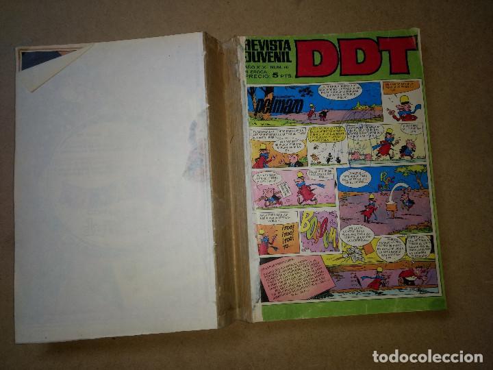 TOMO RETAPADO CON 33 DDT NºS DEL 141 AL 224. BRUGUERA 1971. 6 PTS. BUEN ESTADO (Tebeos y Comics - Bruguera - DDT)