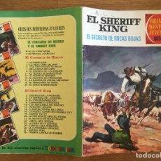 Tebeos: EL SHERIFF KING Nº 21 - EL SECRETO DE LAS ROCAS ROJAS - 15 PESETAS - BRUGUERA - GCH1. Lote 210012253