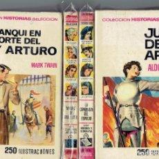 Tebeos: 4 LIBROS COLECCION HISTORIAS DE SELECCION,EDITORIAL BRUGUERA BRUGUERA 1970,JUANA DE ARCO Y OTROS. Lote 210104920