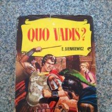 Tebeos: COLECCION HISTORIAS -- QUO VADIS -- BRUGUERA 5ª EDICION 1963 --. Lote 210134731