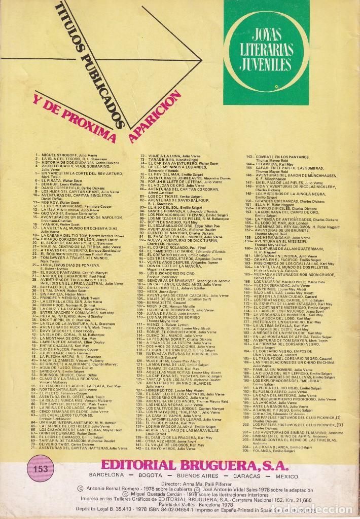 Tebeos: JOYAS LITERARIAS JUVENILES NUMERO 153 LA SOBERANA DEL CAMPO DE ORO - Foto 2 - 210166100