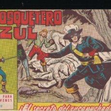 Tebeos: EL MOSQUETERO AZUL Nº 12: EL SECRETO DEL ENCAPUCHADO. Lote 210567972
