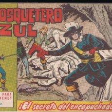 Tebeos: EL MOSQUETERO AZUL Nº 12: EL SECRETO DEL ENCAPUCHADO. Lote 210662451