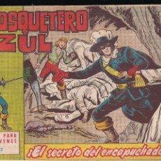 Tebeos: EL MOSQUETERO AZUL Nº 12: EL SECRETO DEL ENCAPUCHADO. Lote 210662561