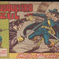 Tebeos: EL MOSQUETERO AZUL Nº 15: ASALTO A TIBERAIDA. Lote 210663275