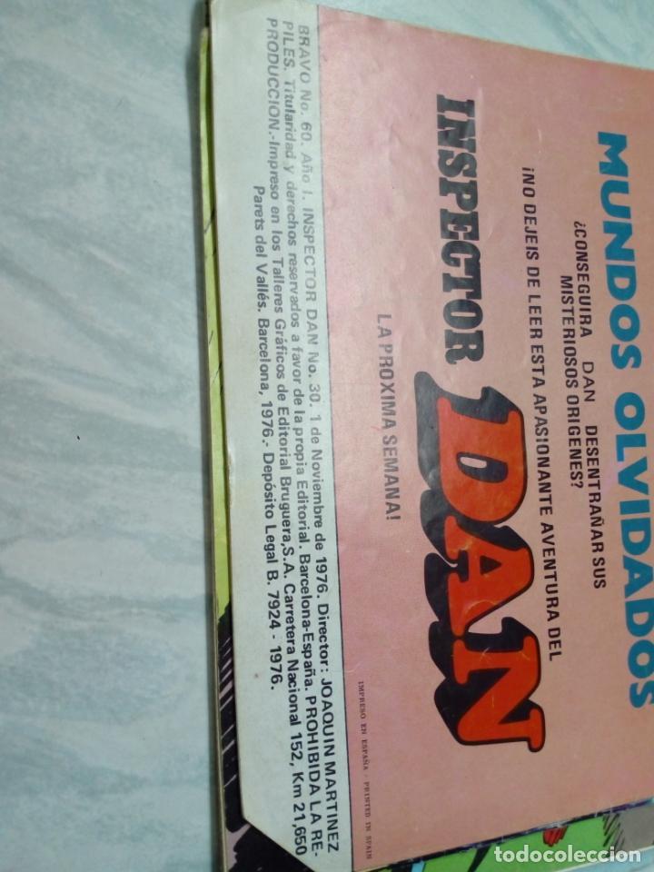 Tebeos: lote de 5 comic - bravo año 1 .nº 40,60,68,73,75 inspector dan y el cachorro - 1976 - - Foto 4 - 210830554