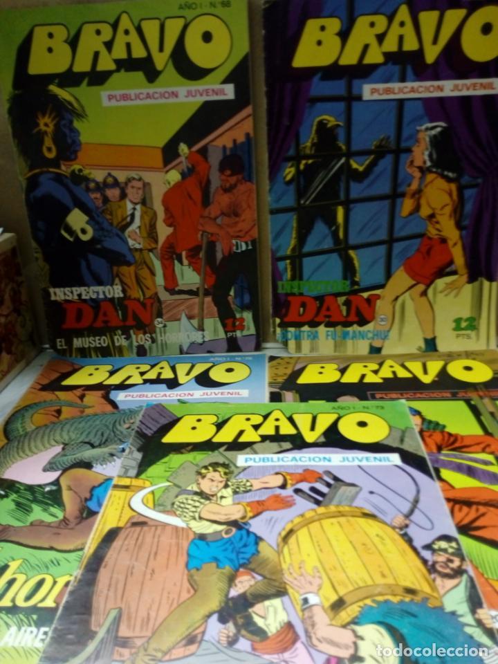 LOTE DE 5 COMIC - BRAVO AÑO 1 .Nº 40,60,68,73,75 INSPECTOR DAN Y EL CACHORRO - 1976 - (Tebeos y Comics - Bruguera - Bravo)