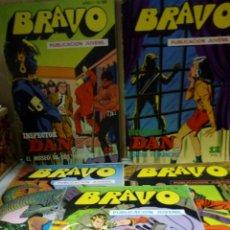 Tebeos: LOTE DE 10 COMIC - BRAVO AÑO 1 .Nº19,21,24,40,60,61,68,69,73,75 INSPECTOR DAN Y EL CACHORRO - 1976 -. Lote 210830554