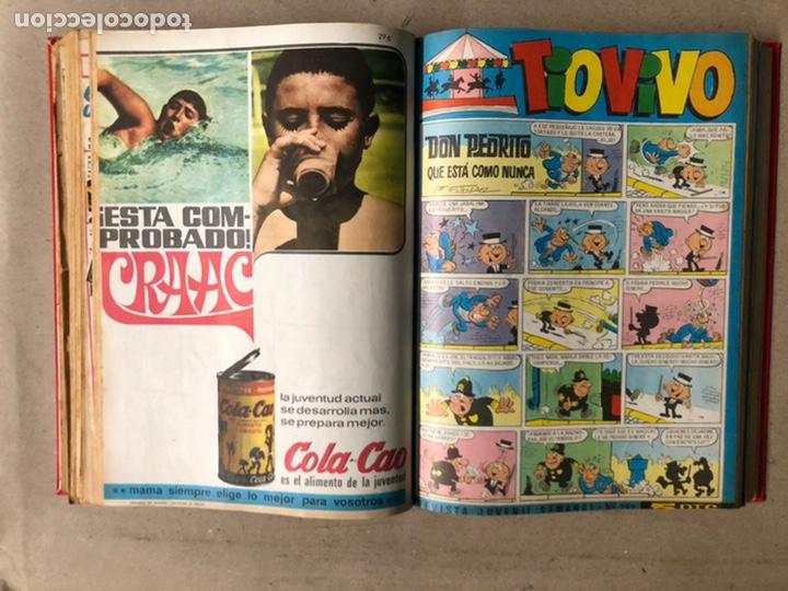 Tebeos: TOMO CON 24 TEBEOS TÍO VIVO (EDITORIAL BRUGUERA 1966/67) ENCUADERNADOS EN TAPA DURA. - Foto 25 - 210936319