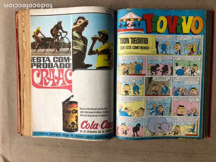 Tebeos: TOMO CON 24 TEBEOS TÍO VIVO (EDITORIAL BRUGUERA 1966/67) ENCUADERNADOS EN TAPA DURA. - Foto 29 - 210936319