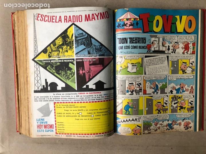 Tebeos: TOMO CON 24 TEBEOS TÍO VIVO (EDITORIAL BRUGUERA 1966/67) ENCUADERNADOS EN TAPA DURA. - Foto 37 - 210936319