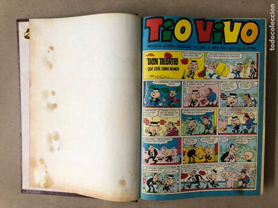 Tebeos: TOMO CON 15 TEBEOS TIO VIVO (EDITORIAL BRUGUERA 1967/68/69) ENCUADERNADOS EN TAPAS DURAS. - Foto 3 - 210939431