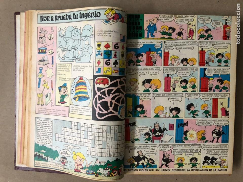 Tebeos: TOMO CON 15 TEBEOS TIO VIVO (EDITORIAL BRUGUERA 1967/68/69) ENCUADERNADOS EN TAPAS DURAS. - Foto 6 - 210939431