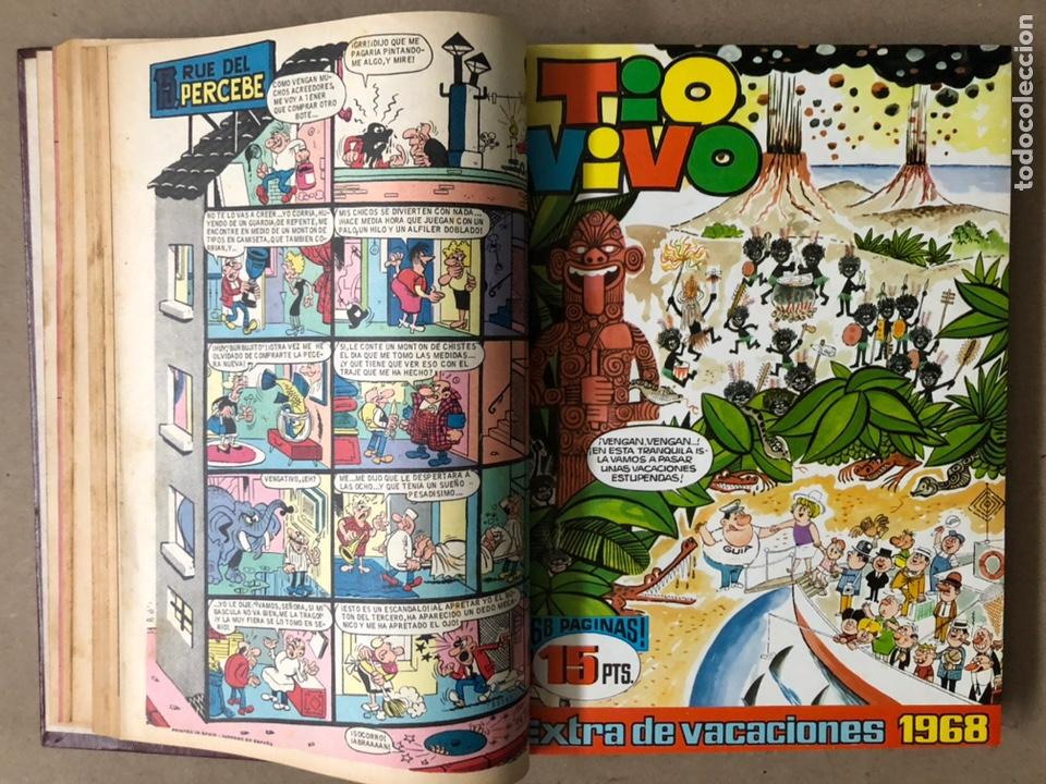 Tebeos: TOMO CON 15 TEBEOS TIO VIVO (EDITORIAL BRUGUERA 1967/68/69) ENCUADERNADOS EN TAPAS DURAS. - Foto 9 - 210939431