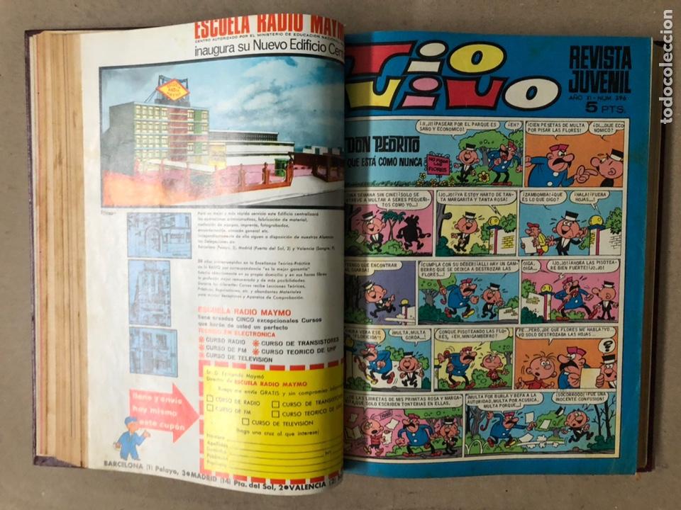 Tebeos: TOMO CON 15 TEBEOS TIO VIVO (EDITORIAL BRUGUERA 1967/68/69) ENCUADERNADOS EN TAPAS DURAS. - Foto 12 - 210939431