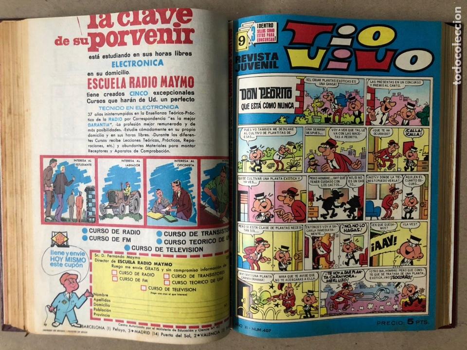 Tebeos: TOMO CON 15 TEBEOS TIO VIVO (EDITORIAL BRUGUERA 1967/68/69) ENCUADERNADOS EN TAPAS DURAS. - Foto 18 - 210939431
