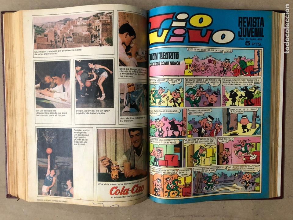 Tebeos: TOMO CON 15 TEBEOS TIO VIVO (EDITORIAL BRUGUERA 1967/68/69) ENCUADERNADOS EN TAPAS DURAS. - Foto 25 - 210939431